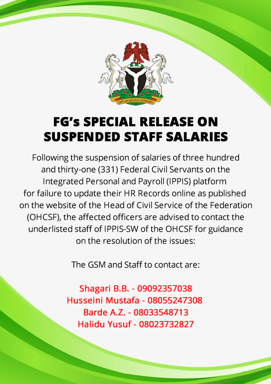 FG's SPECIAL RELEASE ON